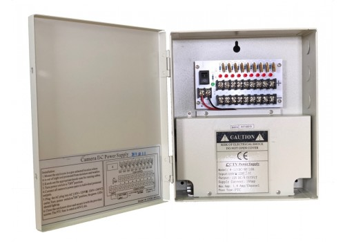 9 Port 10 Amp 12 VDC Power Distribution Box