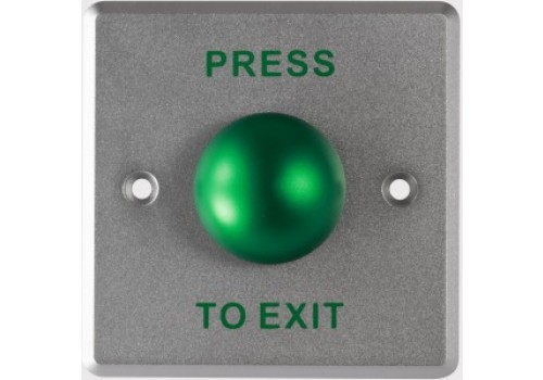 Stainless Steel Exit Button - Wide Plate