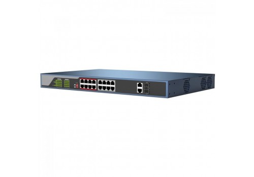 16 Port Power over Ethernet Switch - ArcusPoE-16