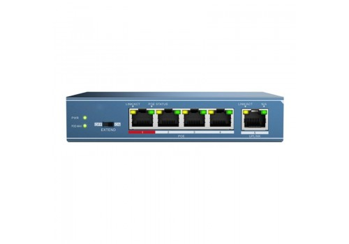 4 Port Power over Ethernet Switch with 1 Gigabit Uplink