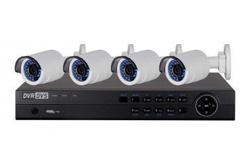 4 channel ip camera system bullet