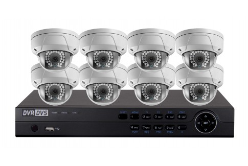 8 ip camera system package dome