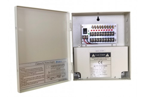 9 Port 10 Amp 12 VDC Power Distribution Box