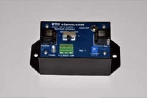 Single channel microphone interface for power over Ethernet IP cameras